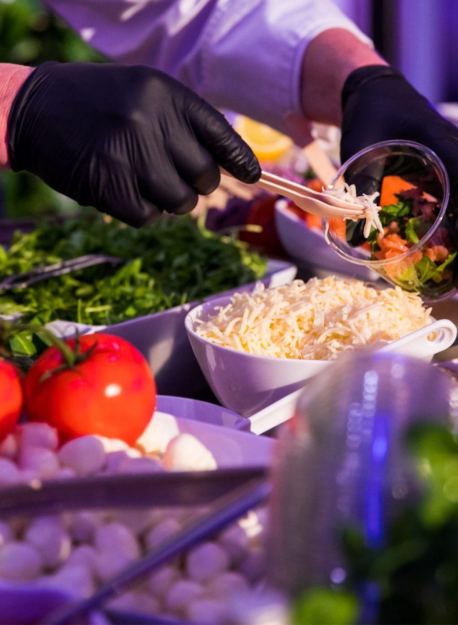 Verse salade Catering beurs Gooiland Hilversum evenementenlocatie
