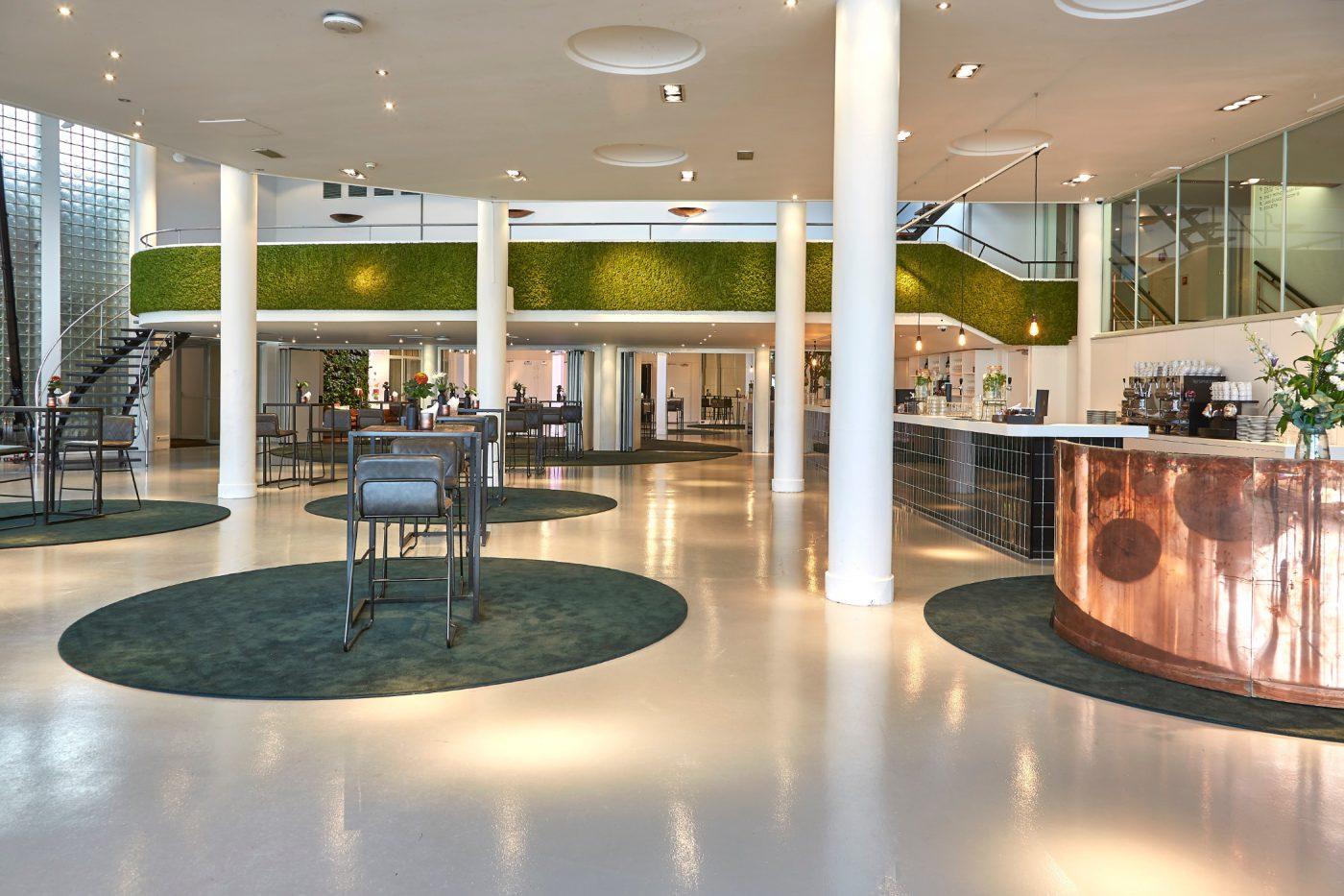 Green Lounge in standaardopstelling bij Gooiland evenementenlocatie Hilversum