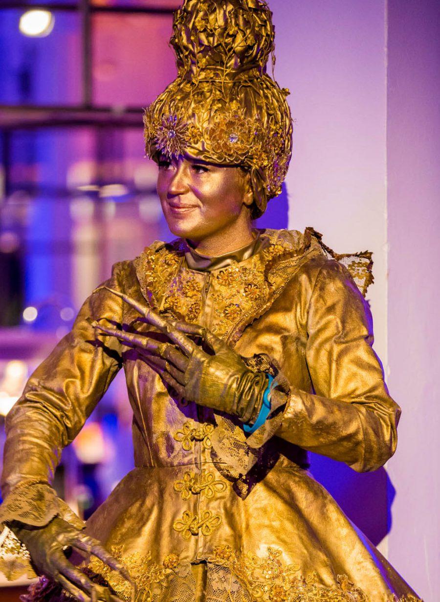 Lidl bedrijfsfeest Gooiland levend standbeeld