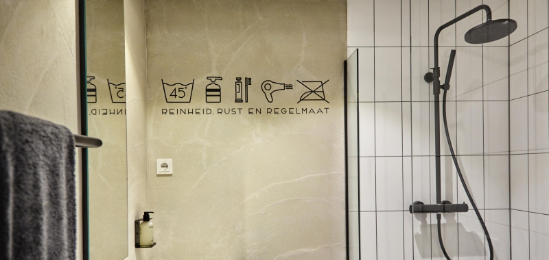 Badkamer bij Dutch brand hotel Gooiland